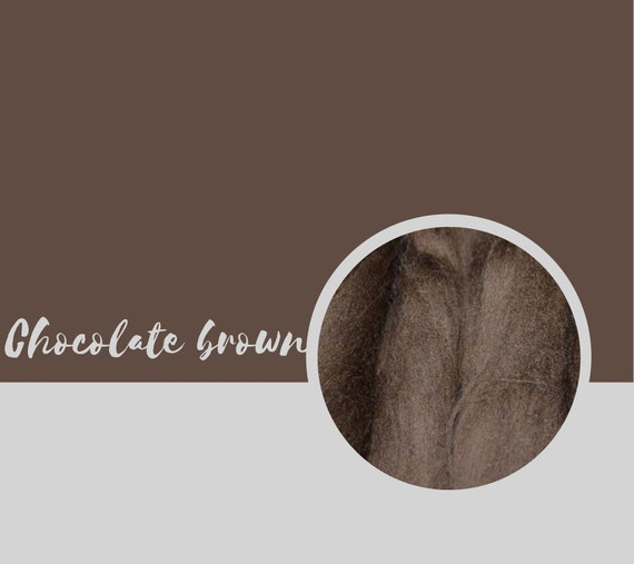 Roving ~ Dark Chocolate Brown 1 lb