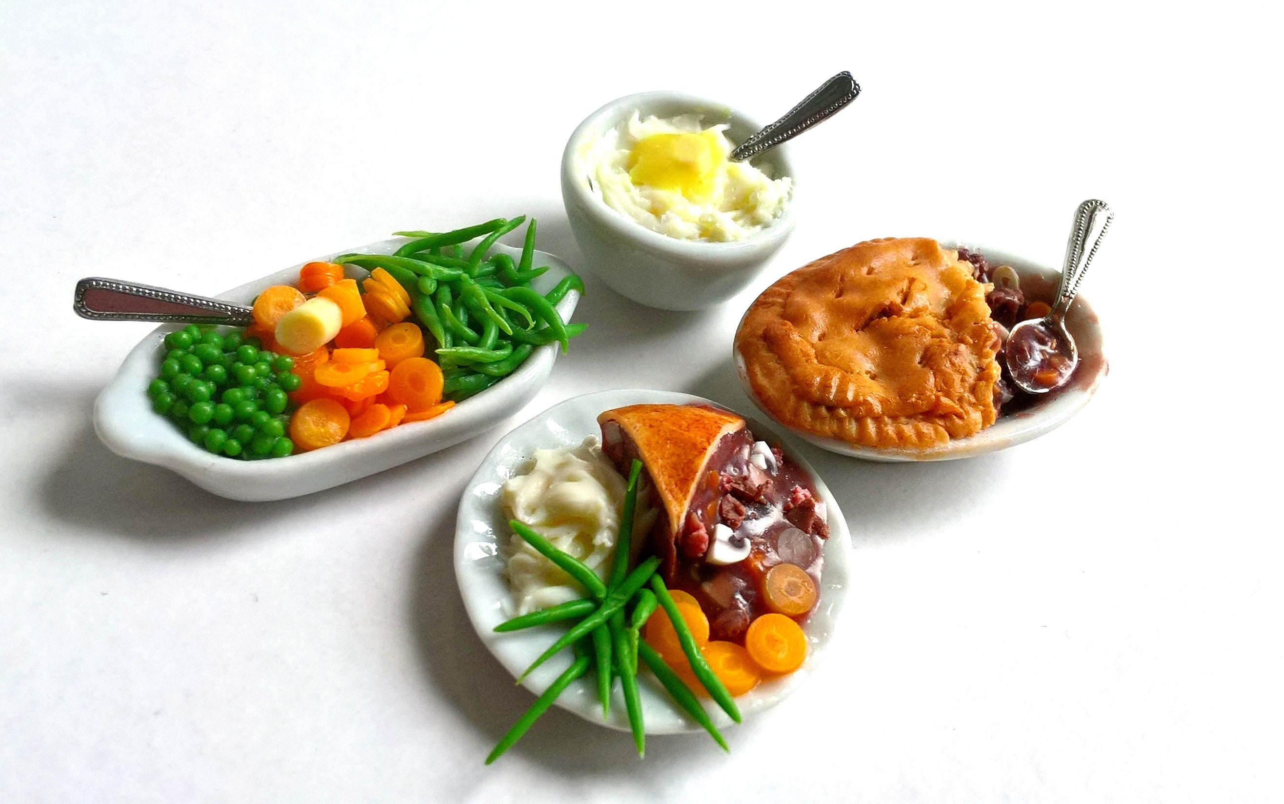 Dolls House Food: Miniature Food REALISTIC Steak Pie ...