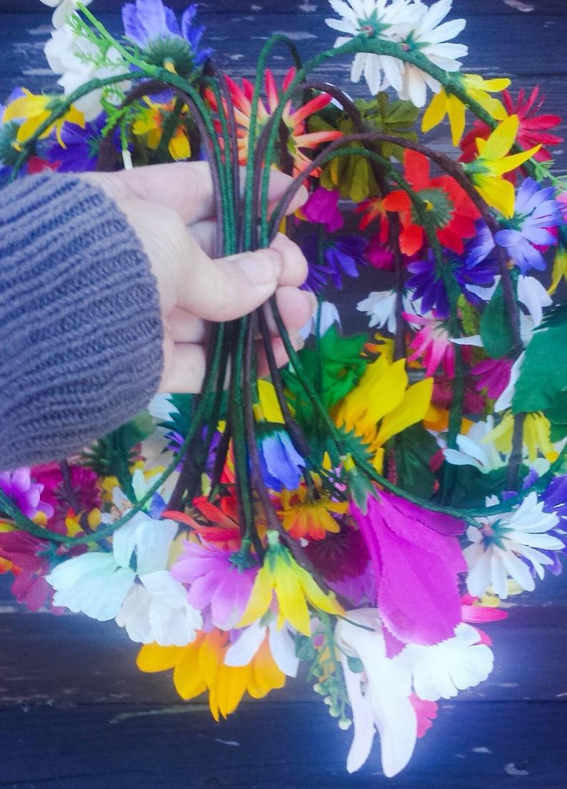 Wildflower Flower Crowns Headbands Bachelorette Party Favors Bridesmaid Headpiece Set of 10 Floral Hair Wreaths Wholesale Colorful