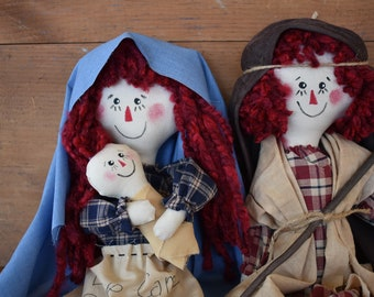 Primitive Raggedy Ann And Andy Nativity