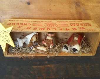 Primitive Nativity Scene Diorama