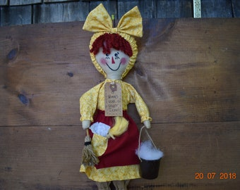 Primitive Raggedy Ann Spring Cleaning Day