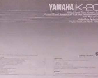 Yamaha K-20 Natural Sound Stereo Cassette Deck Owner's Manual