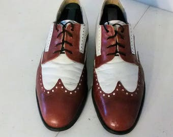 Stacy Adams Men's Oxford - Brown & White Size 8M Pre-Owned