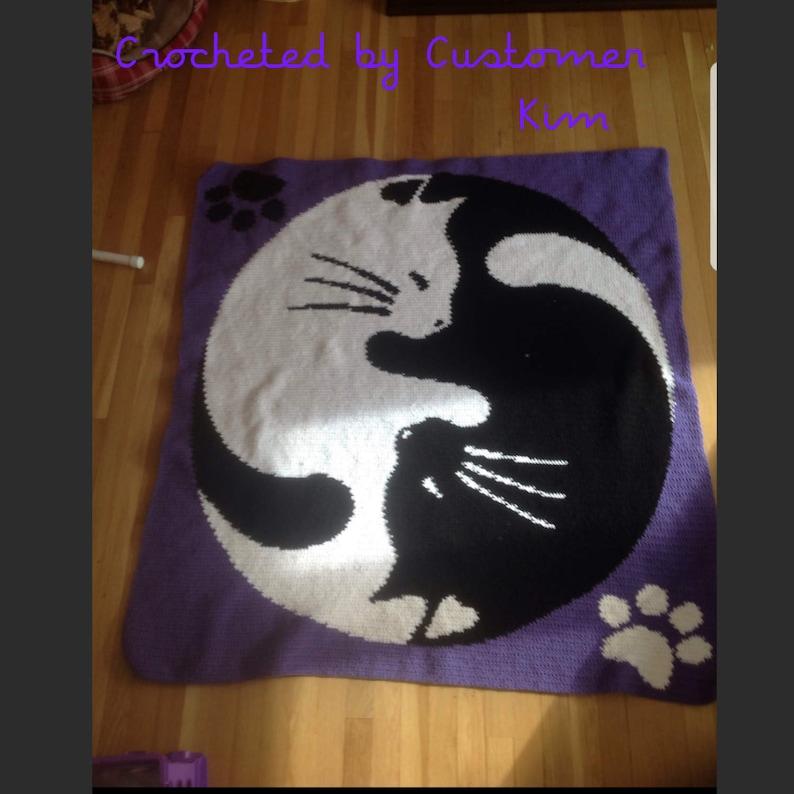 Yin Yang Cats Crochet Graphgan Pattern
