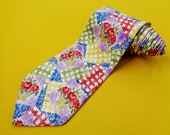 Givenchy Tie Vintage Givenchy Silk Necktie Vintage Givenchy Paris Made In Italy Abstract Pattern Silk Necktie