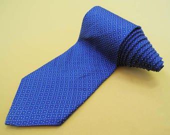 8fd52323affc Brooks Brothers 346 Tie Woven Silk Geometric Pattern Blue Vintage Designer  Dress Necktie Made In Italy