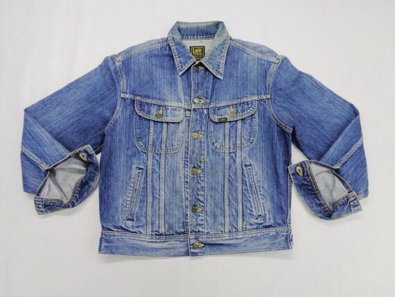 Lee Jacket Distressed Vintage Lee Riders Jeans Ja… - image 4