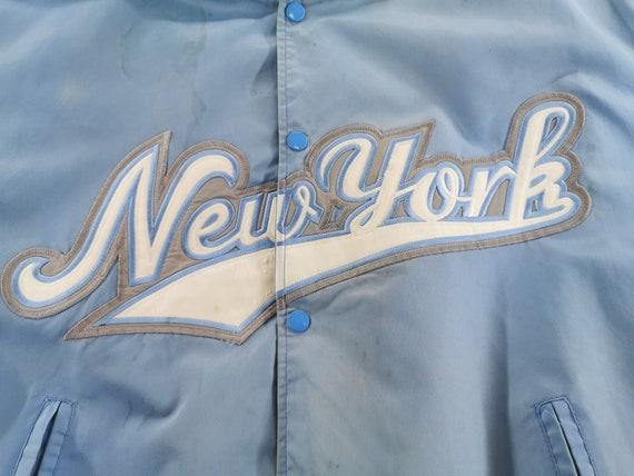New York Baseball Jacket Distressed Vintage New Y… - image 5