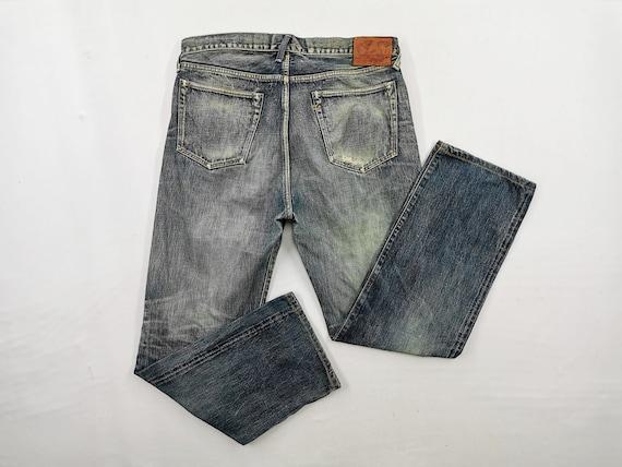 45rpm Jeans Distressed 45rpm Denim Pants 45rpm Stu