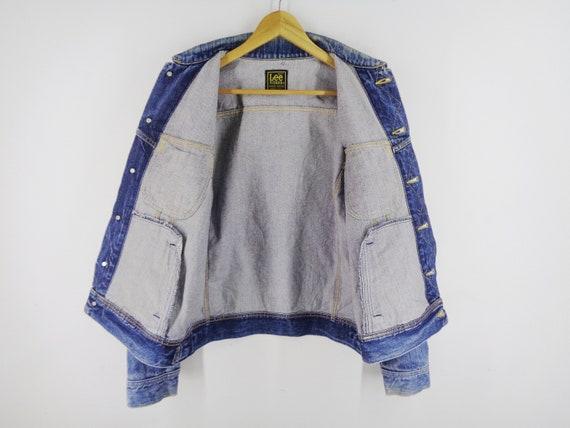 Lee Jacket Distressed Vintage Lee Riders Jeans Ja… - image 3