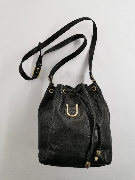 Courreges Bag Vintage 90s Authentic Courreges Blac