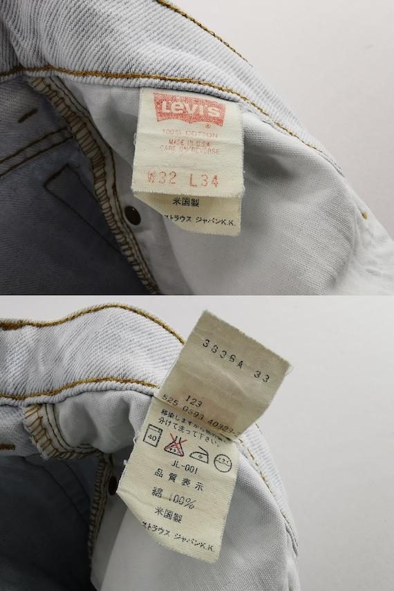 Levis 510-0217 Jeans Distressed Vintage Size 32 L… - image 8