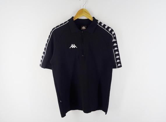 sz XL vintage KAPPA 14 zip polo shirt jersey