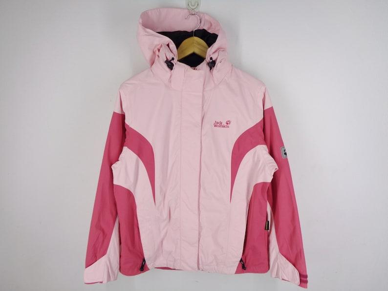 Jack Wolfskin Jacket Jack Wolfskin Windbreaker Jack Wolfskin Texapore Lovely Pink Colorblock Windbreaker Jacket Womens Size L