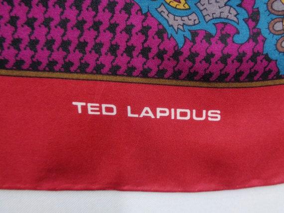 Ted Lapidus Scarf Vintage Ted Lapidus Silk Scarf … - image 3