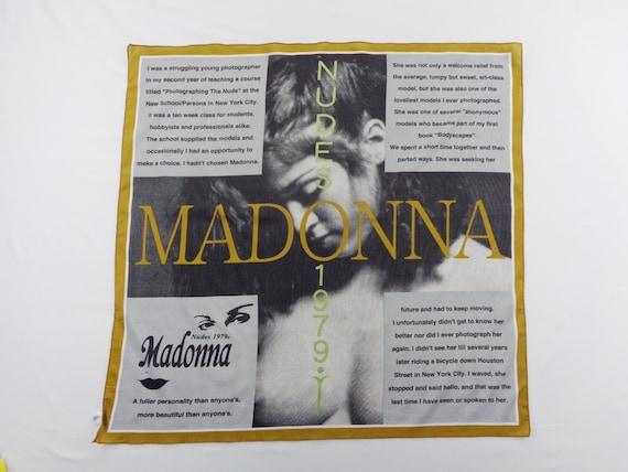 Madonna Scarf Vintage Madonna Silk Scarf Madonna N