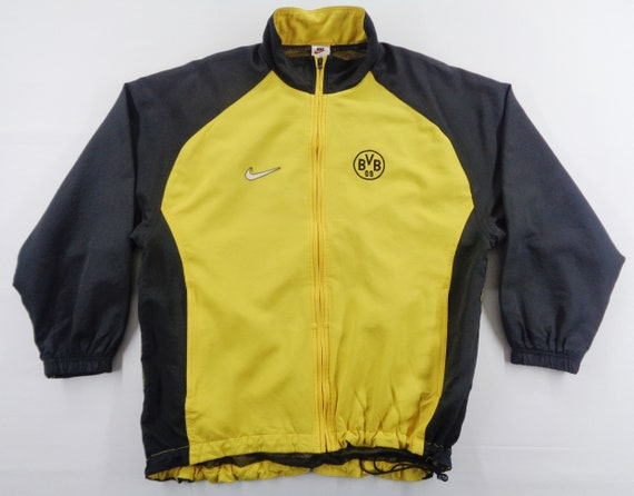 Nike Borussia Dortmund Jacket Vintage Nike Windbreaker 90s Etsy