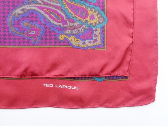 Ted Lapidus Scarf Vintage Ted Lapidus Silk Scarf … - image 4