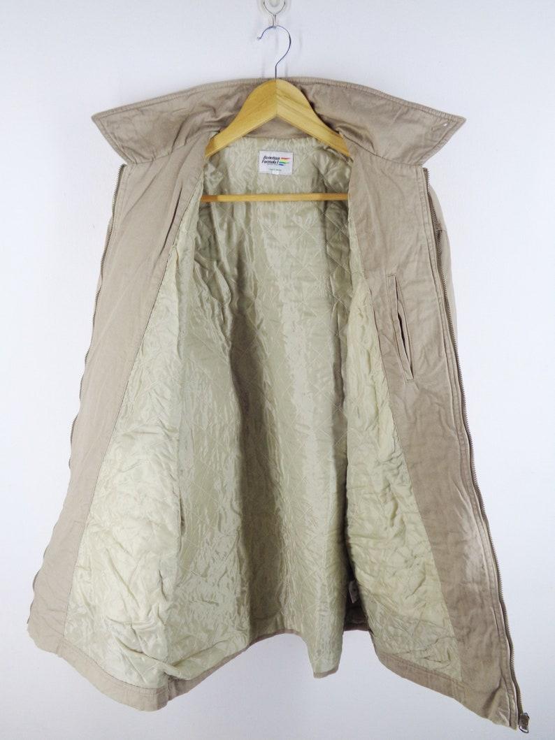 Benetton Jacket Vintage Formula 1 Jacket Vintage 90/'s Benetton Formula 1 Quilted Zipper Workers Jacket Size L