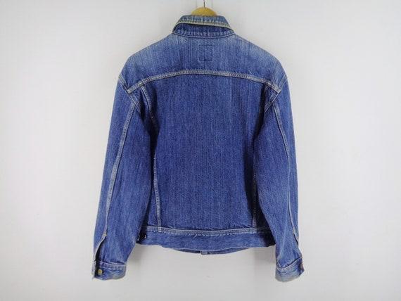 Lee Jacket Distressed Vintage Lee Riders Jeans Ja… - image 2