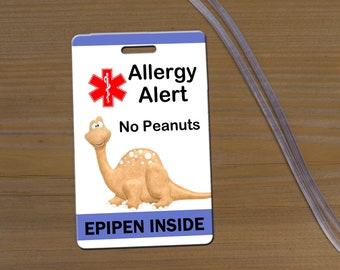 Peanut Allergy Bag Tag, Allergy Alert Bag Tag, Allergy Alert Tag, No Peanut Tag, Epipen Bag Tag, Allergy Alert Luggage Tag, Epipen Tag