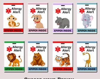Allergy Bag Tag, Allergy Alert Tag, Peanut Allergy Bag Tag, No Peanut Tag, Epipen Bag Tag, Allergy Alert Luggage Tag, Epipen Tag