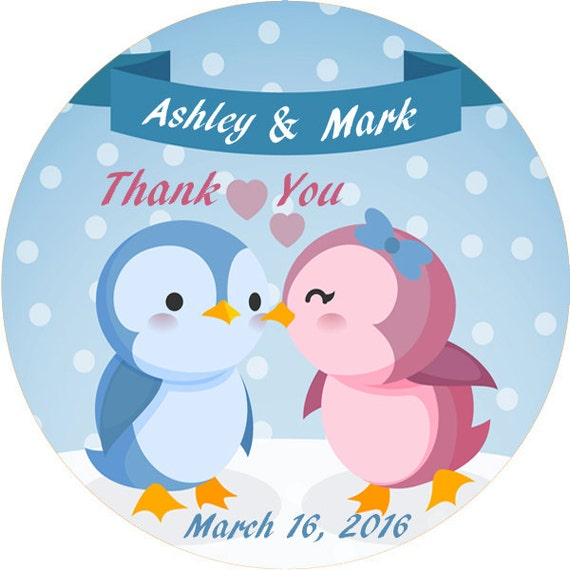 love bird thank you stickers wedding thank you labels etsy
