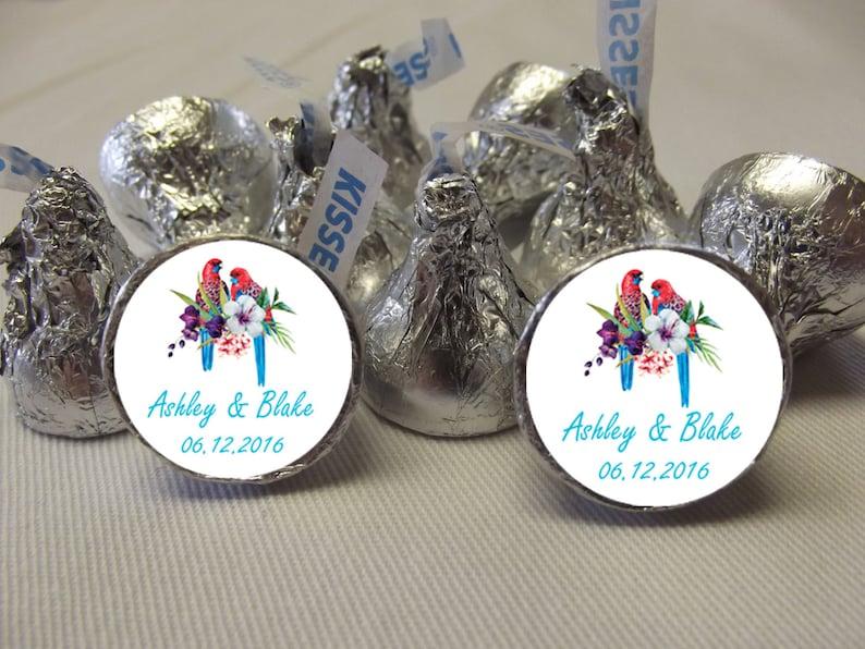 Destination Wedding Stickers Personalized Hershey Kiss Labels Hershey Kiss Stickers 108 Wedding Candy Stickers