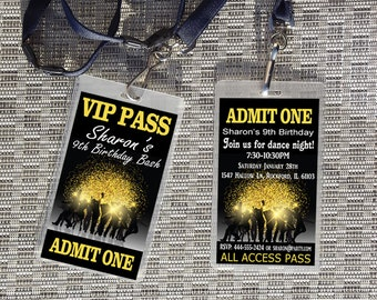 Limousine Birthday Lanyard VIP Birthday Invitations Limousine
