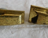 Vintage 1960s Singer case latches clasps fittings ex Singer 329K sewing machine fit trapezoid lid brass finish