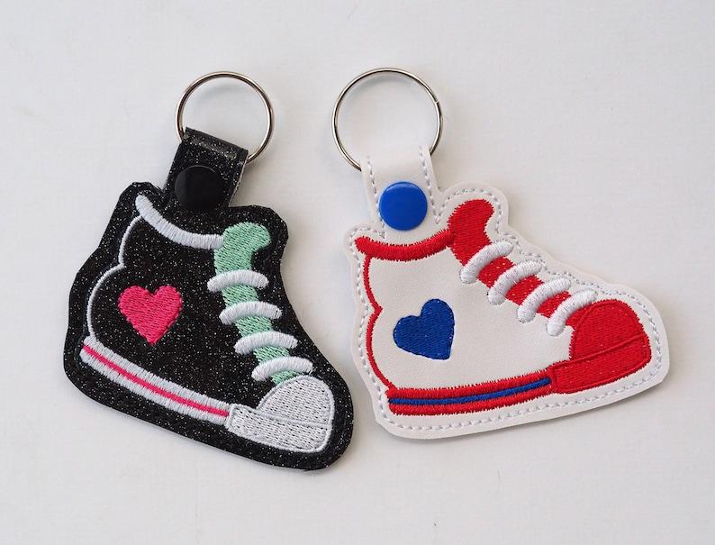 558729c160c9d Tennis Shoe Key Chain, Sneaker Key Chain, Sport Key Chain, Athletic Key  Chain,Sport Party Favor, Heart Key Chain