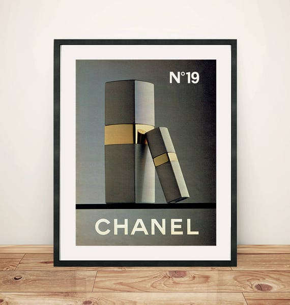 Perfume Chanel 19 French Fashion Cute Illustration Designer Etsy