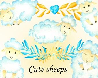 cute lamb clipart etsy De Mongolia Physical Features lamb clipart watercolor lamb sheep clipart watercolor sheep illustration easter clipart easter lamb illustration hand painted clipart