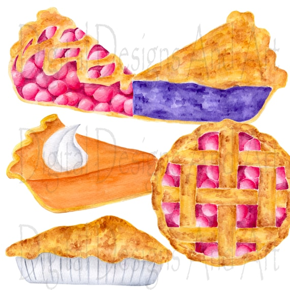 blueberry personal use Pies Clipart Set pecan pie small commercial use cherry lime instant download clip art set of pies pumpkin