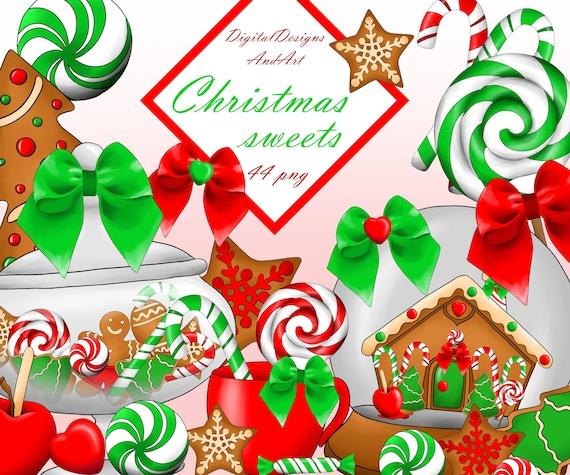 Christmas Sweets.Christmas Sweets Clipart Christmas Cookies Christmas Clipart Xmas Clipart Christmas Candy Planner Clipart Sticker Clipart Commercial