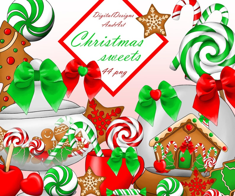 Christmas Sweets Clipart Christmas Cookies Christmas Clipart Xmas Clipart Christmas Candy Planner Clipart Sticker Clipart Commercial