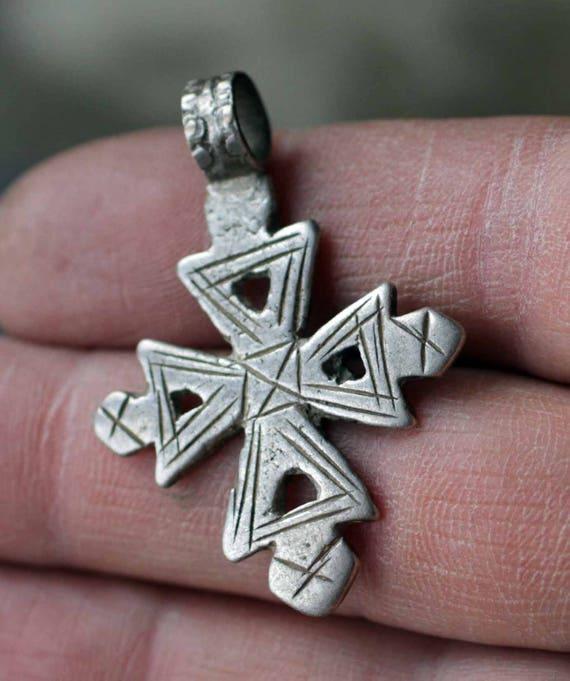 Ancient Ethiopian Coptic Silver Cross Etsy