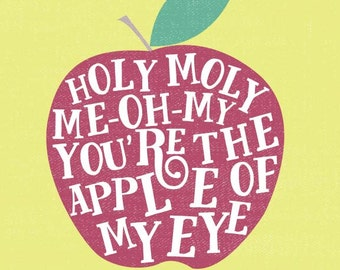 Apple of My Eye print | 8x10 | digital download | printable