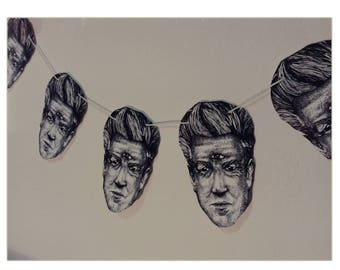 Lynched , David Lynch print, comes with 5 bunting pieces