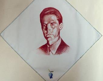 Vintage handkerchief * original Dale Cooper draw
