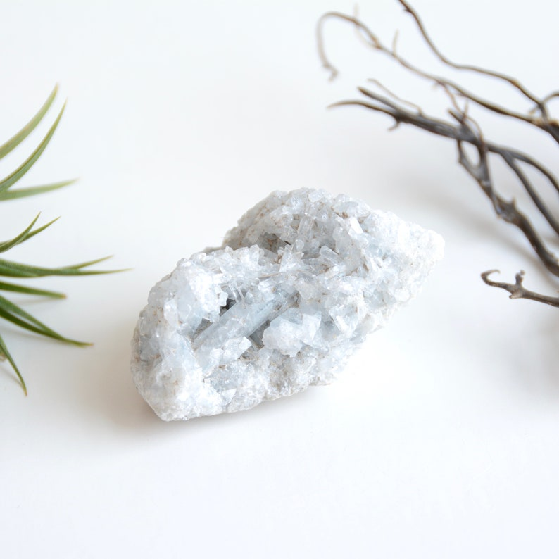 Raw Celestite Crystal - Blue Crystal Home Decor - Healing Meditation -  Crystal Grid - Throat Chakra - Valentines Day Gift - Gifts for Her