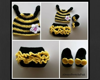 Gifts For Newborns Newborn Babies Bee Costume Bee Hat New Baby Clothes  Costumes Bumble Bee Suit Photo Prop Newborns e2788df8aa23