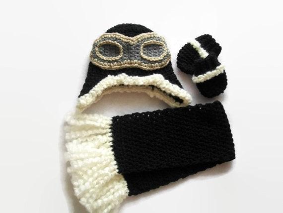 Gifts for Boys Baby Pilot Crochet Pilot hat Baby boy  8d9e19373ce