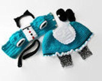 "CROCHET PATTERN-Doll dress, 18"" doll pattern, Crochet doll dress, PDF Pattern, Doll Clothes"