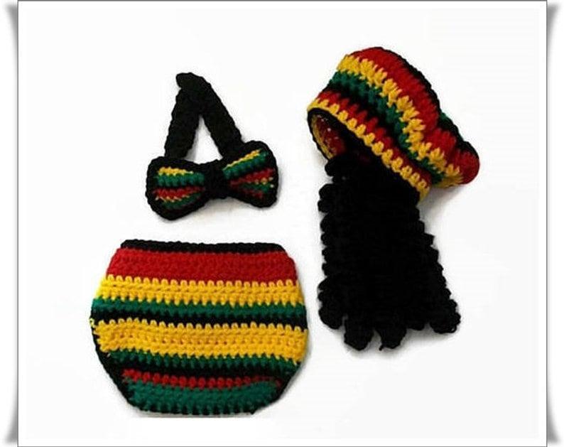 Reggae Baby Photo prop baby clothes Rasta Baby Baby boy clothes Baby Bowtie Reggae hat Boys clothing set