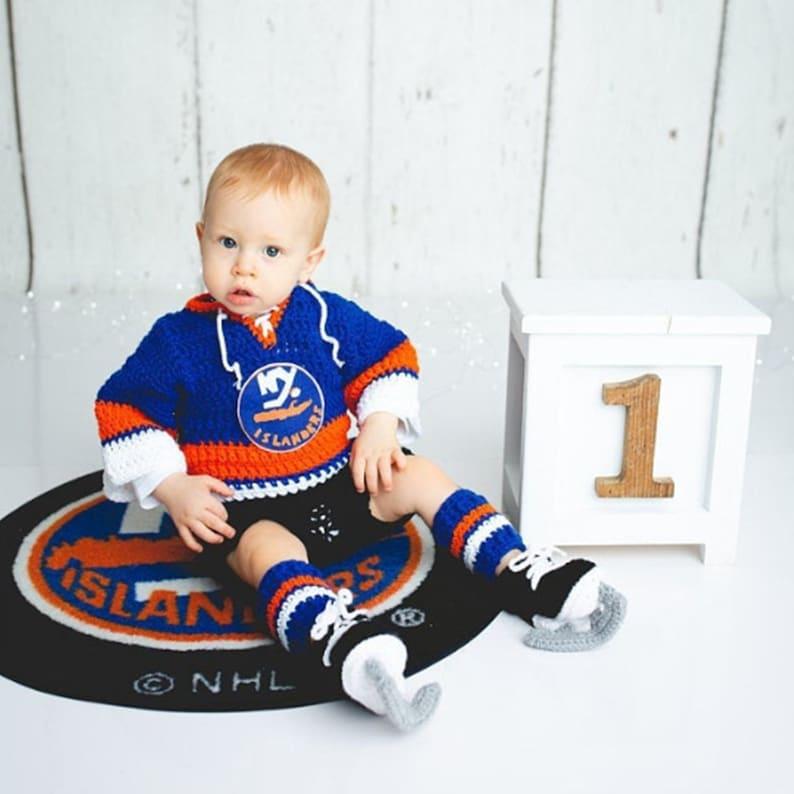 first rate ca134 259fc New York Islanders Hockey, Baby Boy Clothes, Hockey Baby, Photo prop Baby,  Boys hockey costume, NY Islanders Jersey