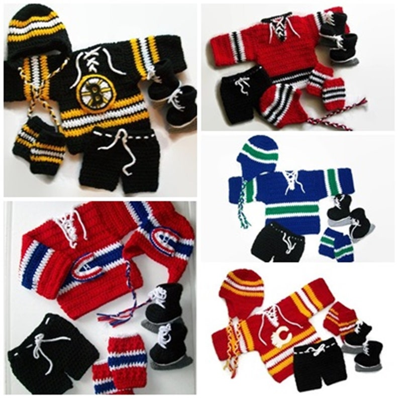 NHL Hockey Jerseys Complete Hockey Baby Boy Outfit Costume  1b36a3a99a0