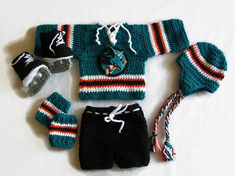 new arrival 31084 eeeee Baby Boy Clothes, San Jose Sharks Jersey, Baby hockey jersey, Newborn boy  clothes, Sports baby boy outfit, Boy clothes