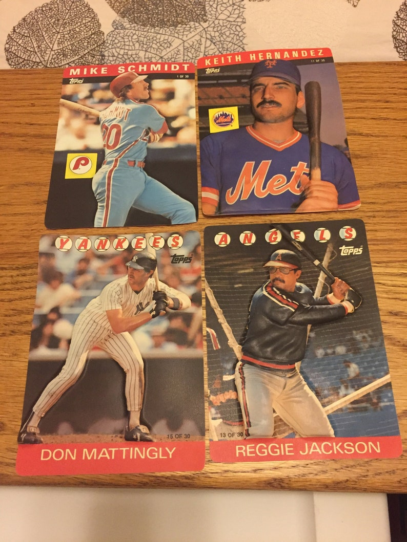 Vintage Topps 3d Baseball Cards From 1985 86